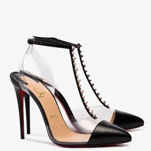 Christian Louboutin 'Nosy Spikes' 100 mm in Black